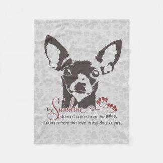 Chihuahua Dog Poem Fleece Blanket