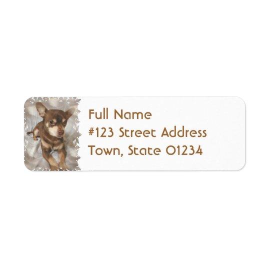 Chihuahua Dog Return Address Label