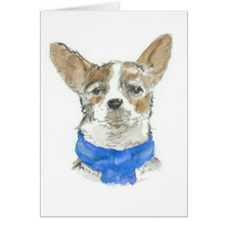 Chihuahua Dog Watercolor GREETINGCARD, blank Card