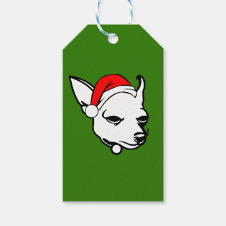 Chihuahua Dog with Christmas Santa Hat Pack Of Gift Tags