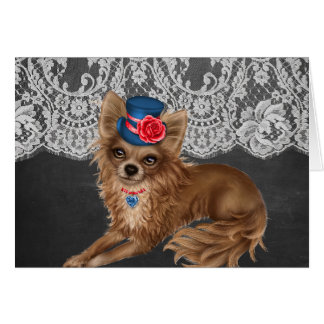 Chihuahua Dogs Wearing Hats Card