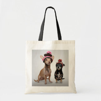 Chihuahua Dogs With Hats Photo Tote Bag