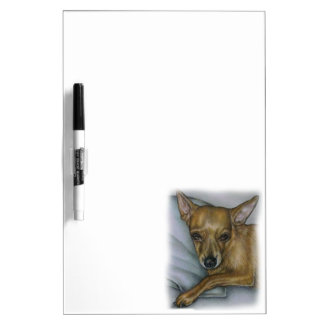 chihuahua drawing of dog animal art dry erase board