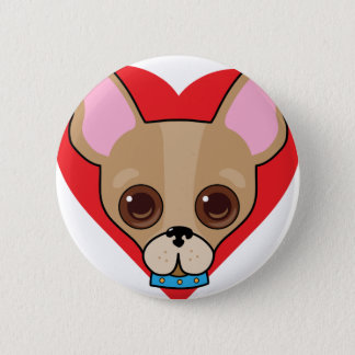 Chihuahua Face 2 Inch Round Button