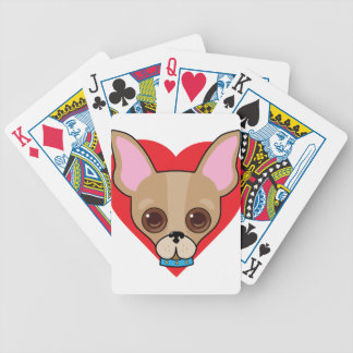 Chihuahua Face Bicycle Playing Cards