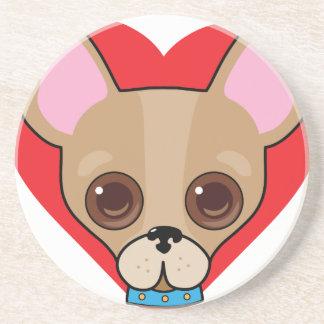 Chihuahua Face Coaster