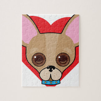 Chihuahua Face Jigsaw Puzzle