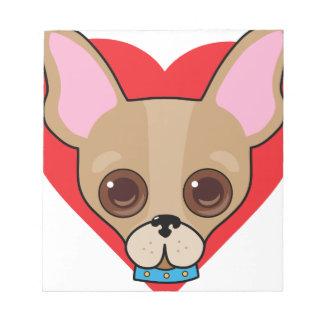 Chihuahua Face Notepad