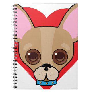 Chihuahua Face Spiral Notebook