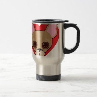 Chihuahua Face Travel Mug