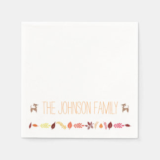 Chihuahua Fall Thanksgiving Paper Napkins