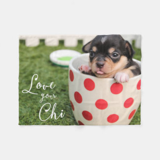 Chihuahua Fleece Blanket Love Your Chi ADD PHOTO