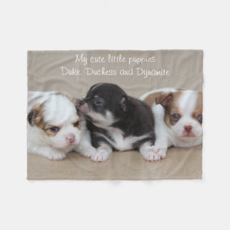 Chihuahua Fleece Blanket My Cute Little Puppies