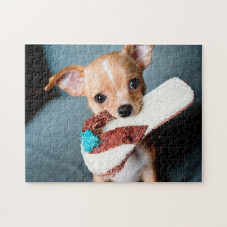 chihuahua flip flops jigsaw puzzle