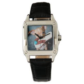 chihuahua flip flops watch