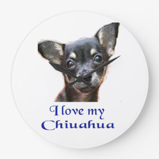Chihuahua gifts large clock