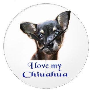 Chihuahua gifts large clock