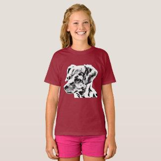 """Chihuahua"" Girls' Hanes TAGLESS® T-Shirt"