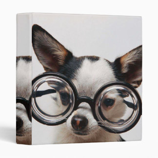 Chihuahua glasses - dog eyeglasses 3 ring binders