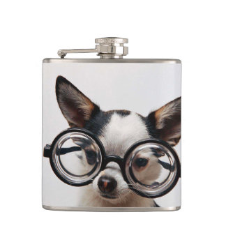 Chihuahua glasses - dog eyeglasses hip flask