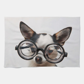 Chihuahua glasses - dog eyeglasses kitchen towel