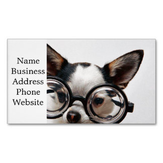 Chihuahua glasses - dog eyeglasses 	Magnetic business card