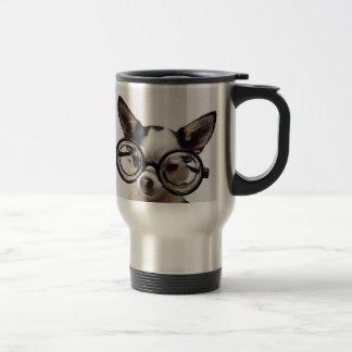 Chihuahua glasses - dog eyeglasses travel mug