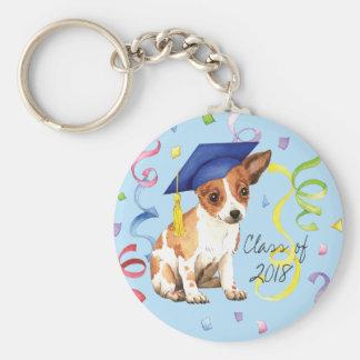 Chihuahua Graduate Keychain