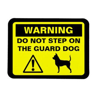 Chihuahua Guard Dog Warning Magnet