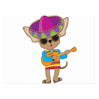 Chihuahua Guitar Post Cards