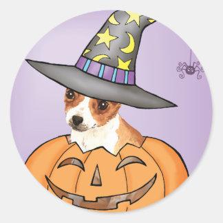 Chihuahua Halloween Round Sticker