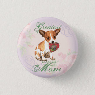 Chihuahua Heart Mom 1 Inch Round Button