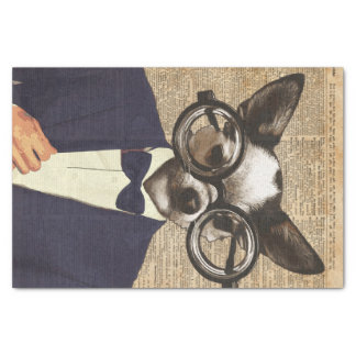 Chihuahua Hipster Dictionary Art Tissue Paper