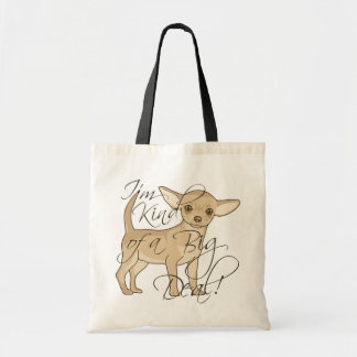 Chihuahua I'm Kind of a Big Deal Graphic Design Tote Bag