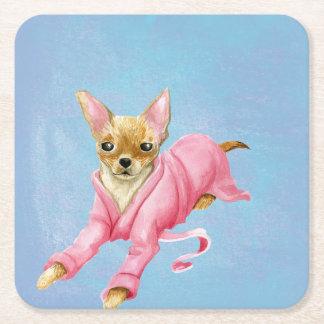 Chihuahua in a Bathrobe Dog Drink Coaster