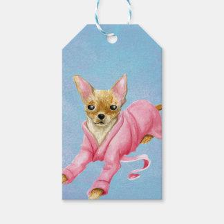 Chihuahua in a Bathrobe Dog Gift Tag