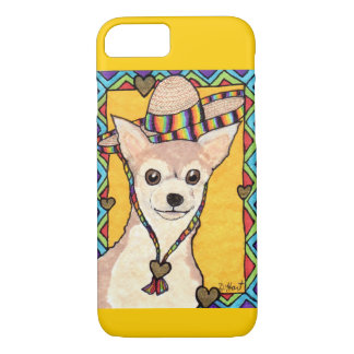 Chihuahua in a Rainbow Sombrero iPhone 7 Case