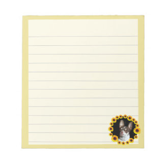 Chihuahua in sunflowers dog notepad