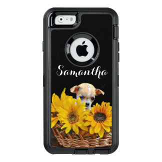 Chihuahua in sunflowers dog Otterbox phone case