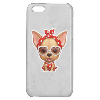 Chihuahua in the Guise of a Retro Beauty Case For iPhone 5C