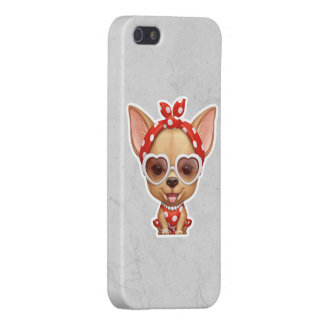 Chihuahua in the Guise of a Retro Beauty iPhone 5/5S Cases