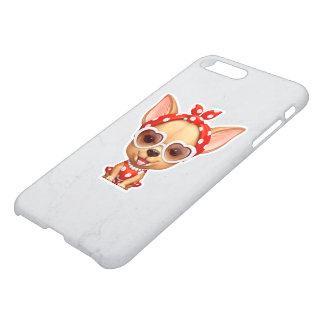 Chihuahua in the Guise of a Retro Beauty iPhone 7 Plus Case
