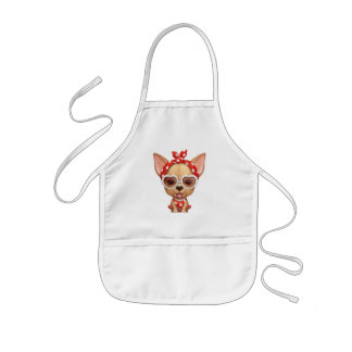 Chihuahua in the Guise of a Retro Beauty Kids Apron