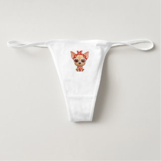 Chihuahua in the Guise of a Retro Beauty Underwear