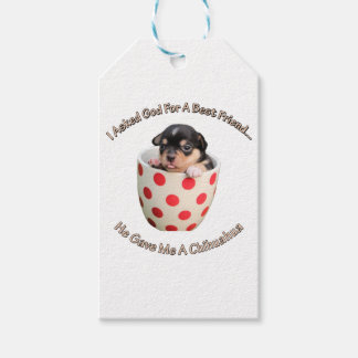 Chihuahua Is My Best Friend Gift Tags