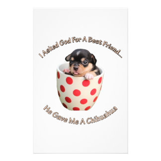 Chihuahua Is My Best Friend Stationery
