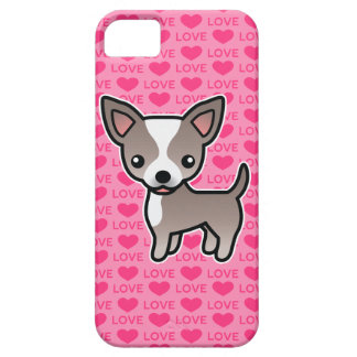 Chihuahua Lavender & White Smooth Coat Love Hearts iPhone 5 Covers