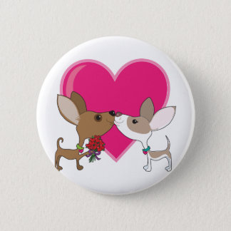 Chihuahua Love 2 Inch Round Button