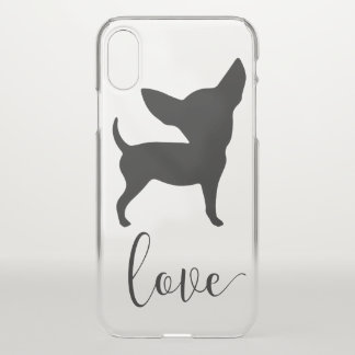 Chihuahua Love iPhone X Clearly™ Deflector Case