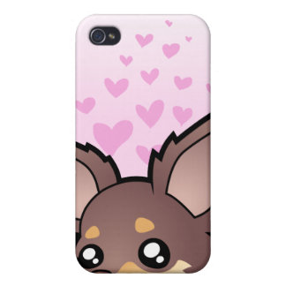 Chihuahua Love (long coat) iPhone 4/4S Cases